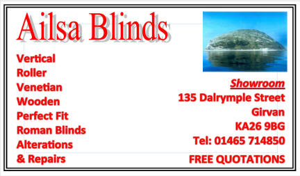 Ailsa Blinds business card
